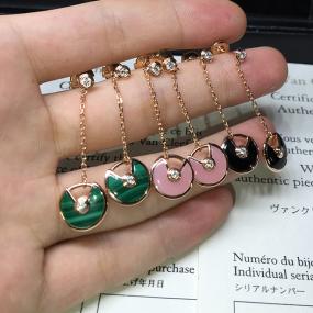 cartier amulette earrings