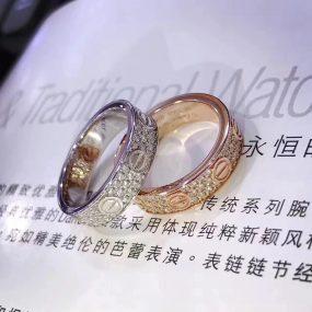 cartier love ring, pave diamonds