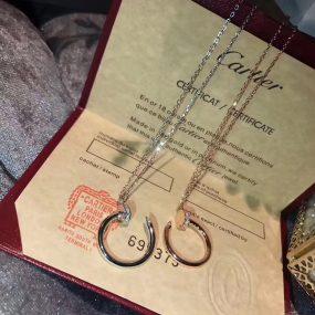 cartier nail necklace