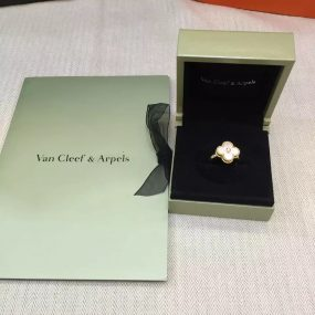 van cleef ring with gift box