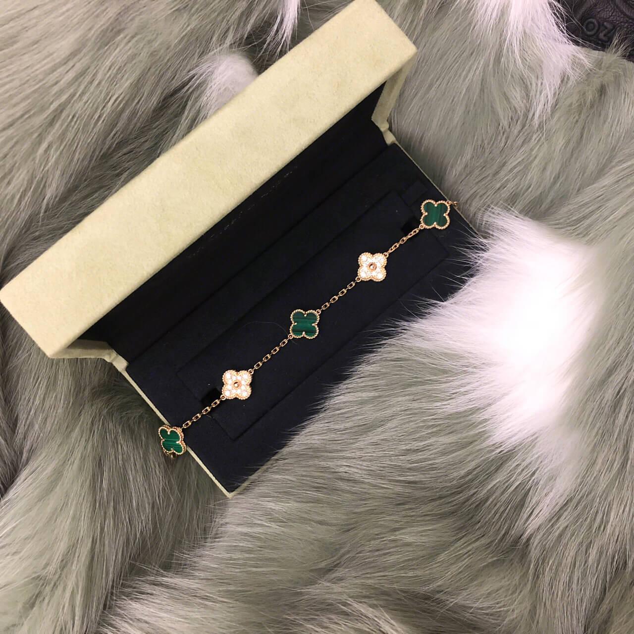 fake van cleef & arpels Vintage Alhambra bracelet 5 motifs