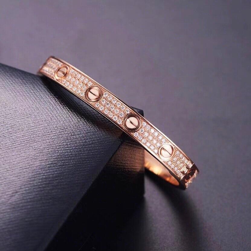 Mirror Cartier love bracelet real gold