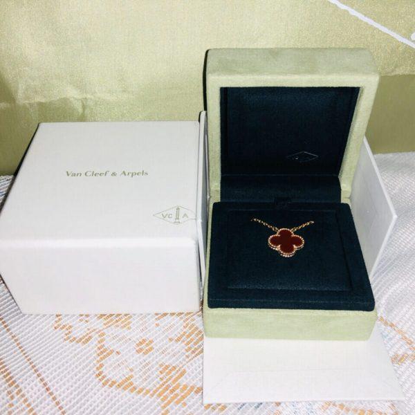 replica van cleef Vintage Alhambra necklace real gold