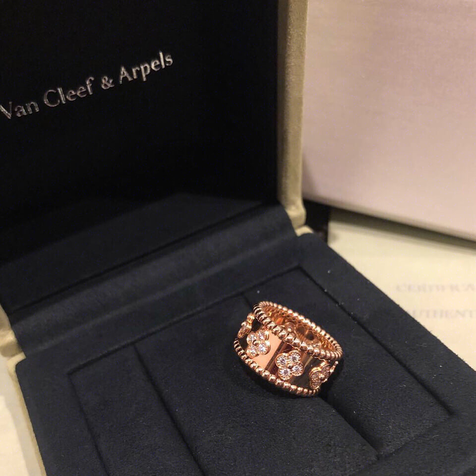 Fake Van cleef & arpels perlee ring real gold