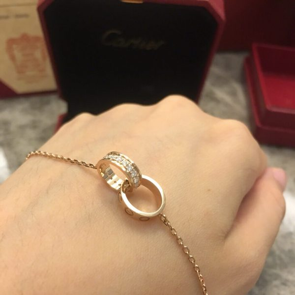fake Cartier double ring necklace