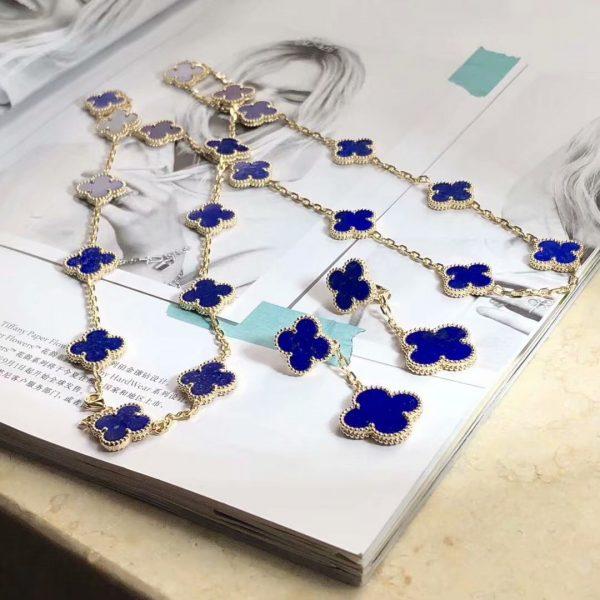 replica van cleef Vintage Alhambra long necklace, 20 motifs