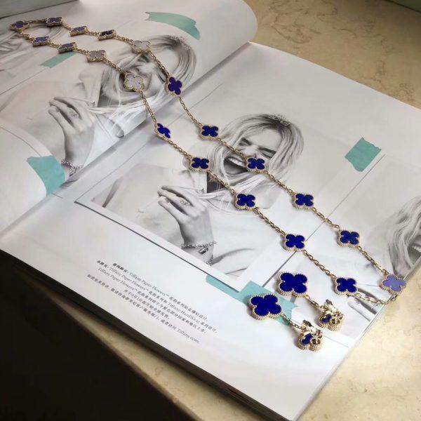 imitation Vintage Alhambra long necklace, 20 motifs