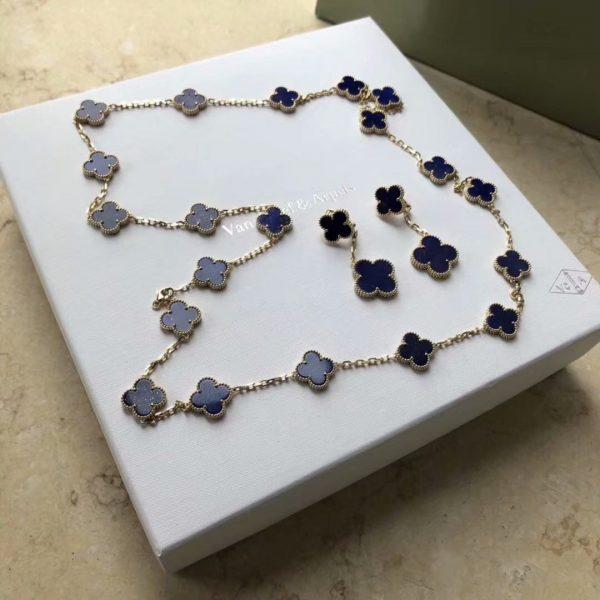 fake VCA Vintage Alhambra long necklace, 20 motifs