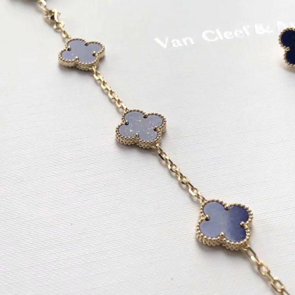 cheap Vintage Alhambra long necklace, 20 motifs