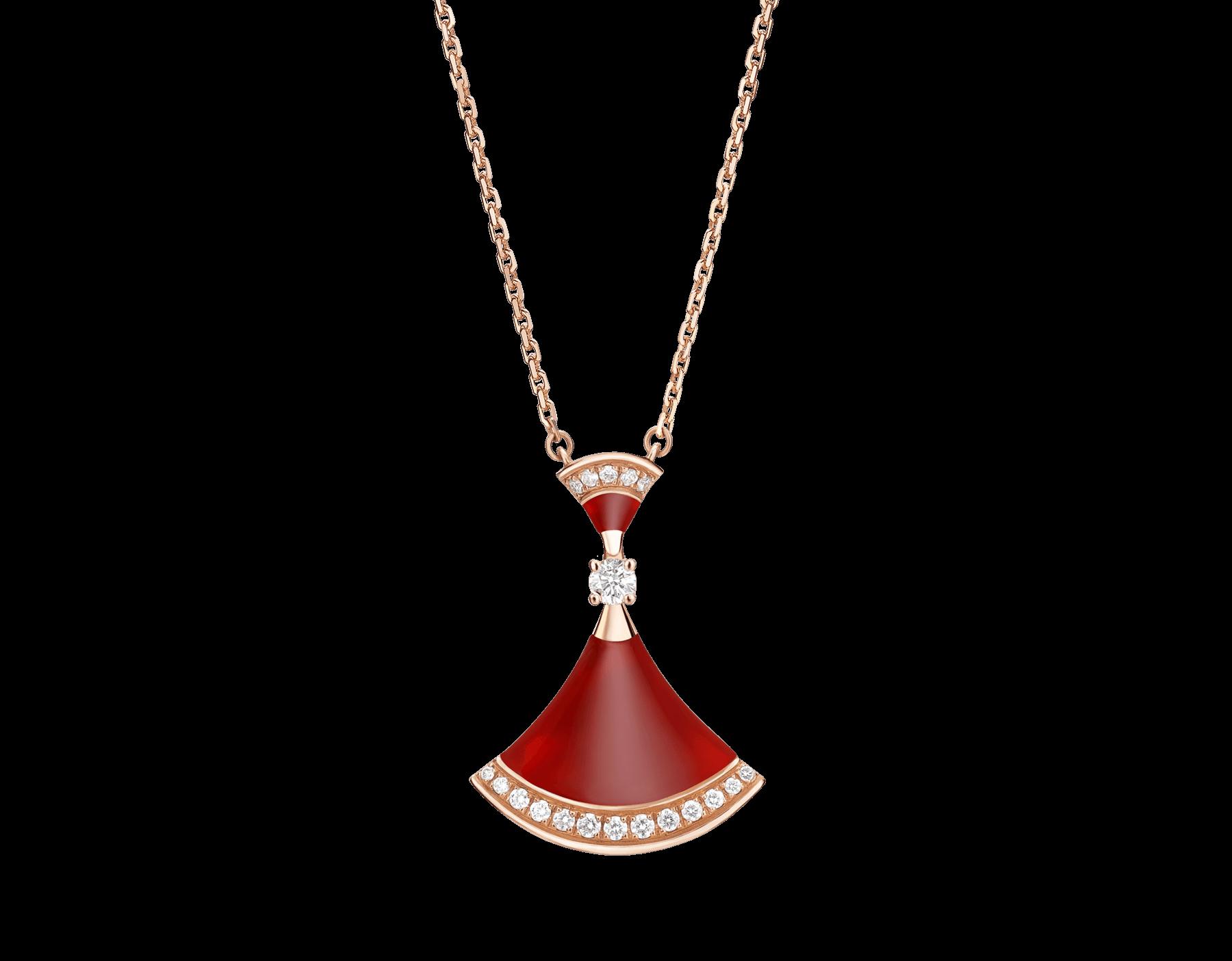 Replica Bulgari Divas Dream Necklace with diamonds