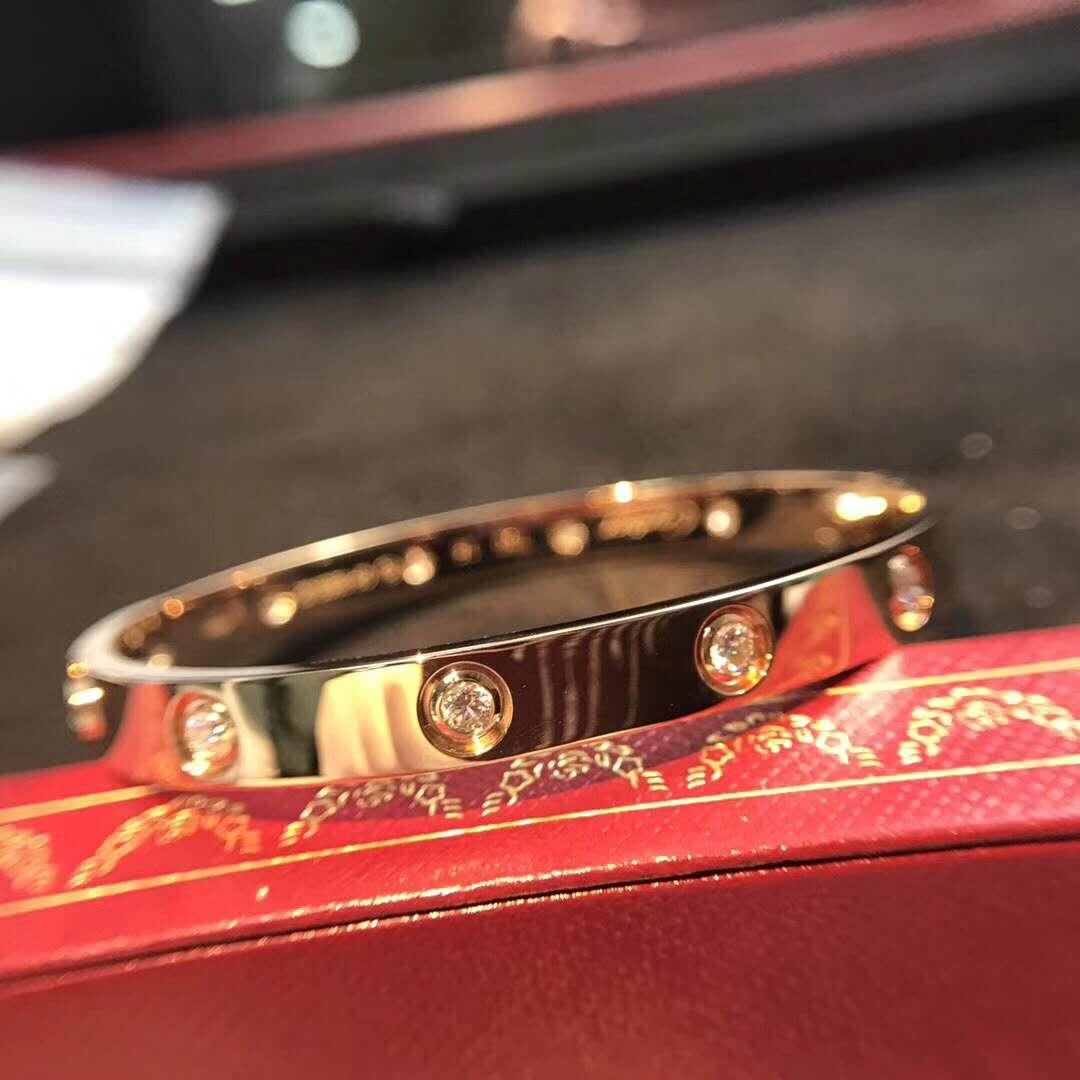 rep cartier love bracelet 10 diamonds