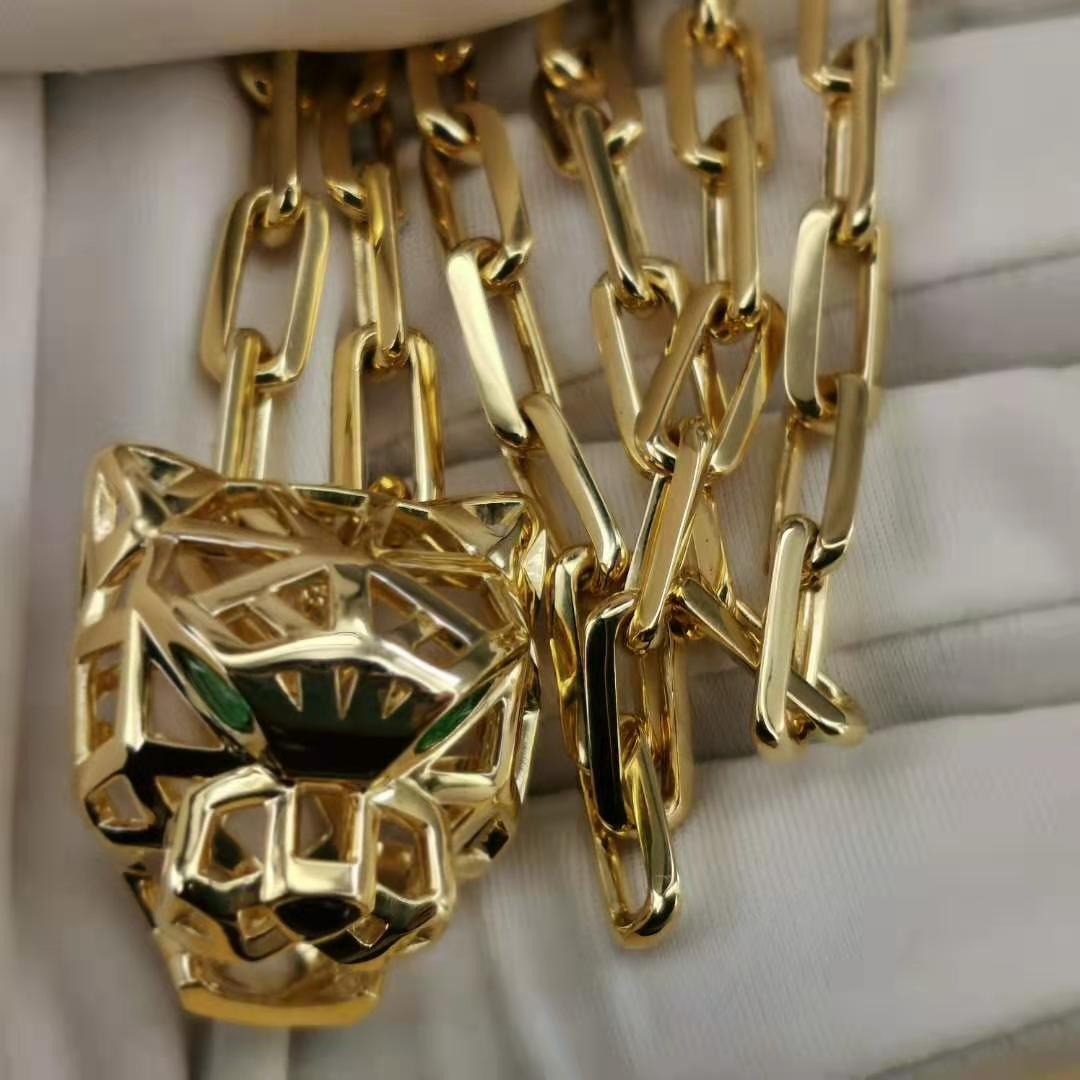 fake Panthere De Cartier Necklace Man 18K Gold