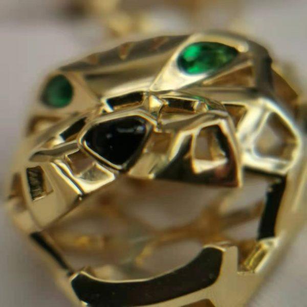 Panthere De Cartier Necklace Man 18K Gold