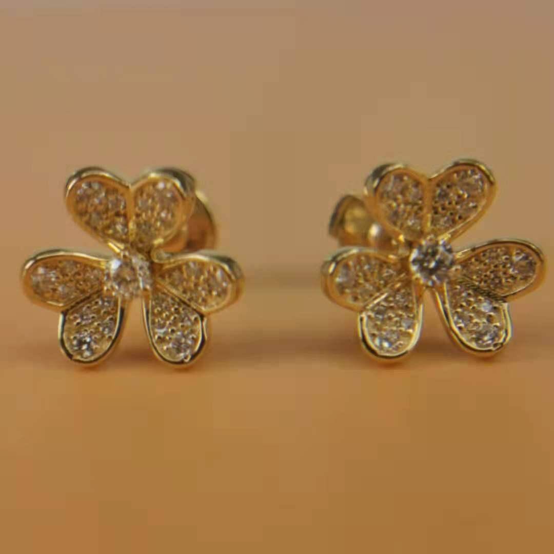 Replica van cleef arpels Frivole earrings, mini model