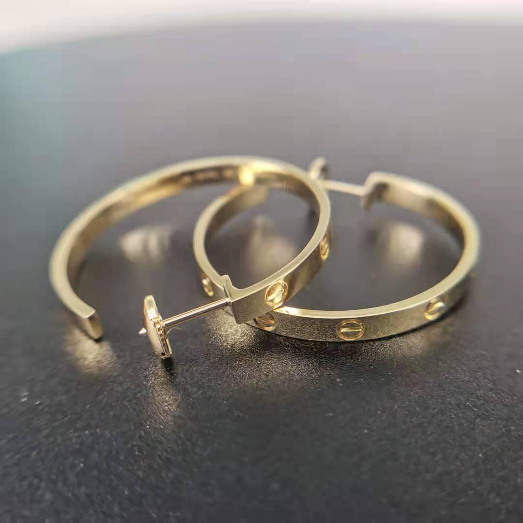 Replica Cartier love earrings