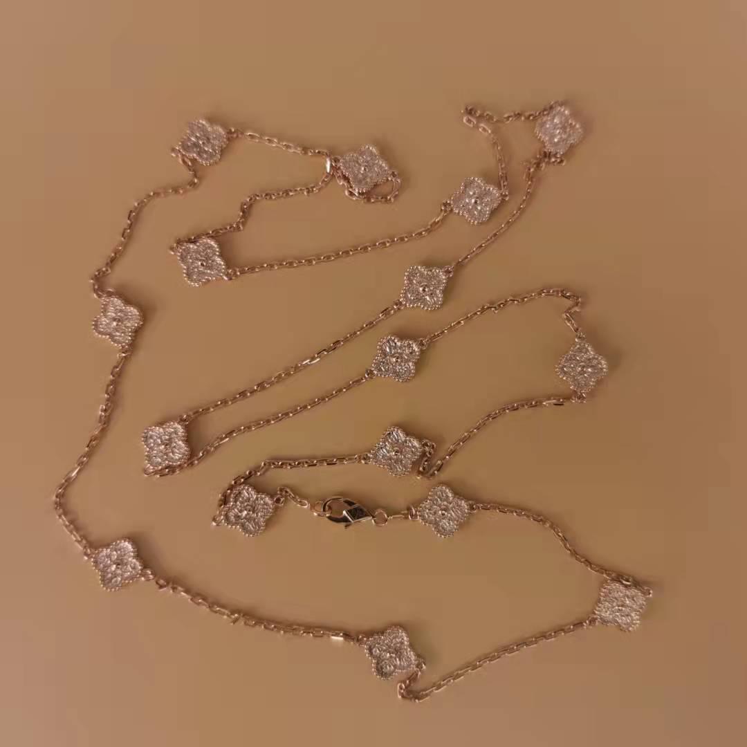 fake van cleef arpels Sweet Alhambra long necklace